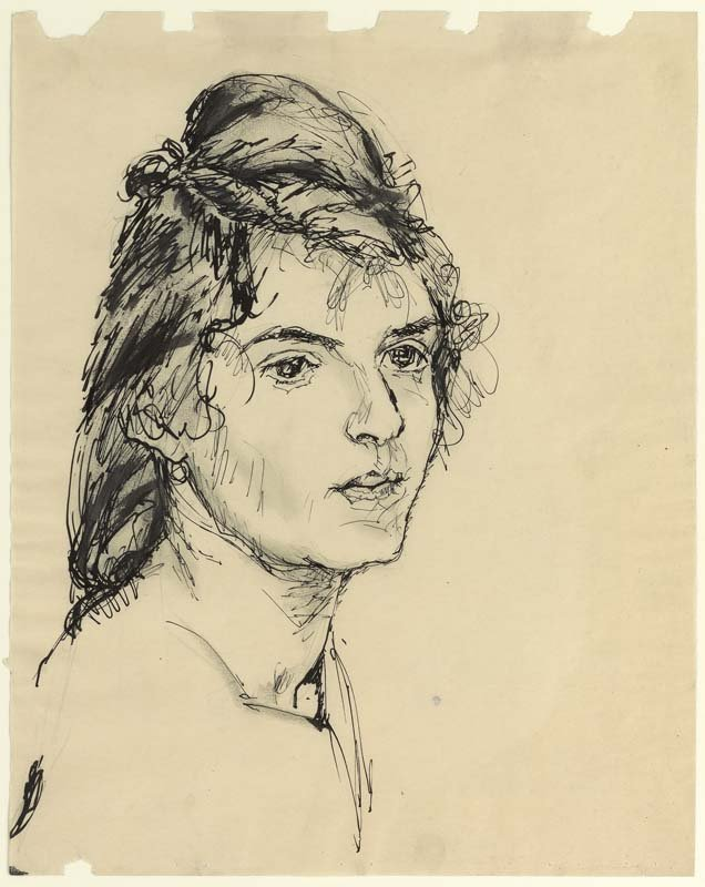 <strong>Josef Albers</strong>, <em>Woman's Head</em>, c.1918