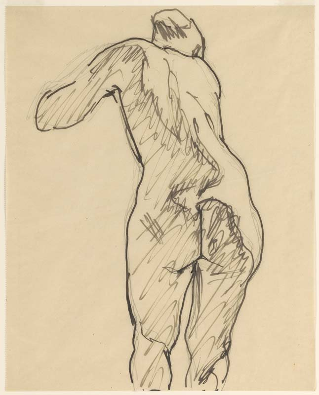 <strong>Josef Albers</strong>, <em>Standing Nude (X)</em>, c.1919