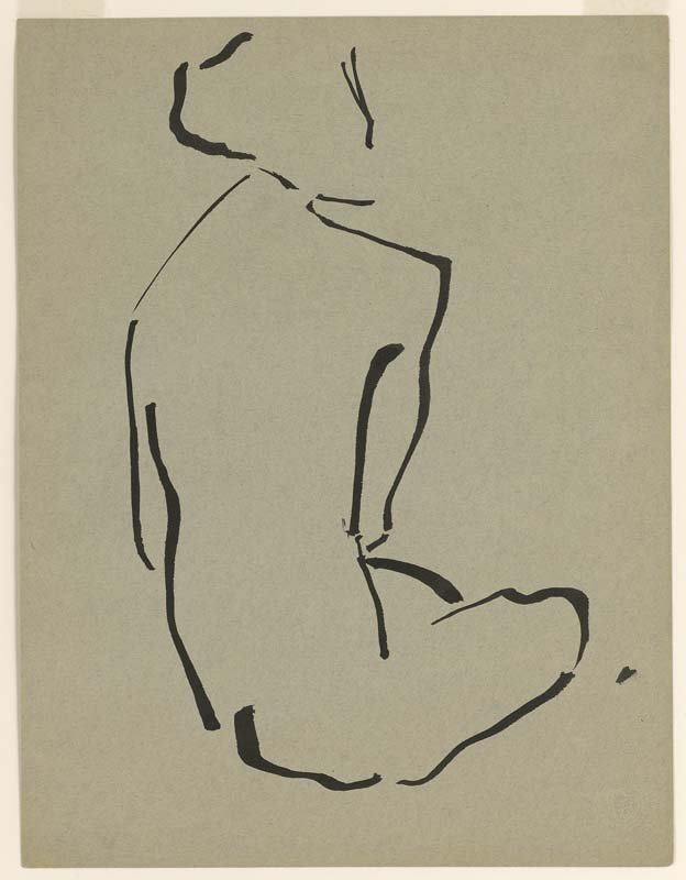 <strong>Josef Albers</strong>, <em>Seated Nude from Behind</em>, c.1919