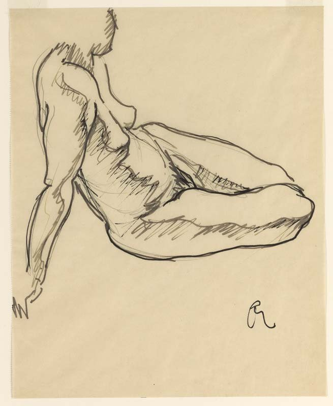 <strong>Josef Albers</strong>, <em>Reclining Nude</em>, c.1919