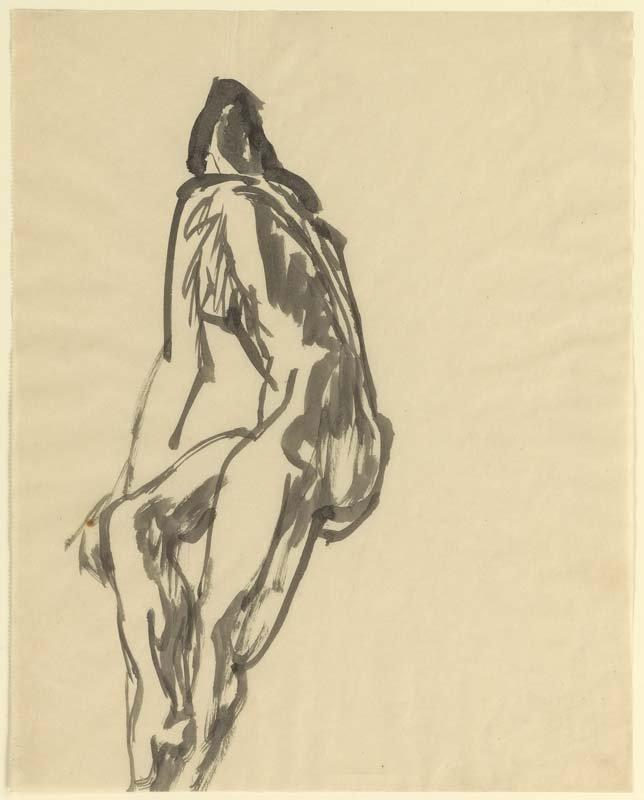 <strong>Josef Albers</strong>, <em>Female Nude - Three Quarters View</em>, c.1919