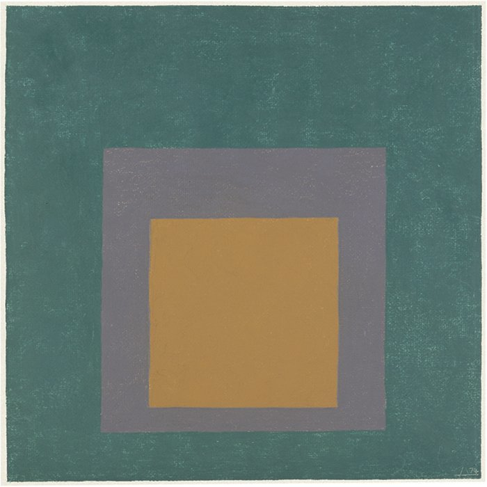 <strong>Josef Albers</strong>, <em>Study for Homage to the Square</em>, 1974