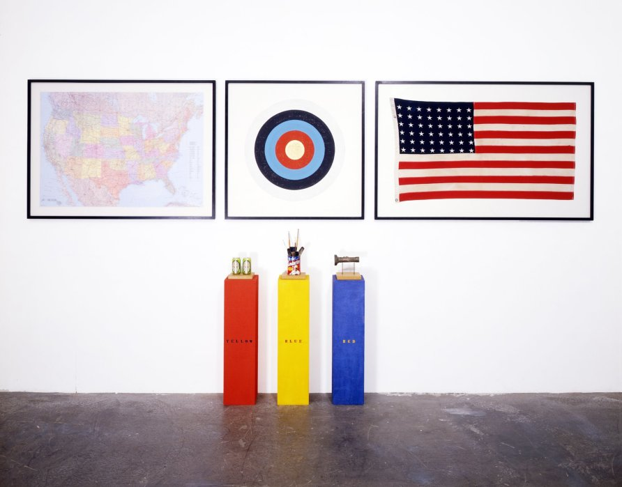 <strong>Peter Blake</strong>, <em>H.O.M.A.G.E. J.J. (a homage to Jasper Johns)</em>, 1995