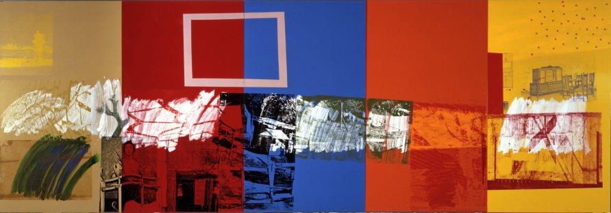 <strong>Robert Rauschenberg</strong>, <em>New Year's Wall (Urban Bourbon)</em>, 1989