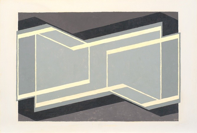 <strong>Josef Albers</strong>, <em>Study to Kinetic VII</em>, 1945