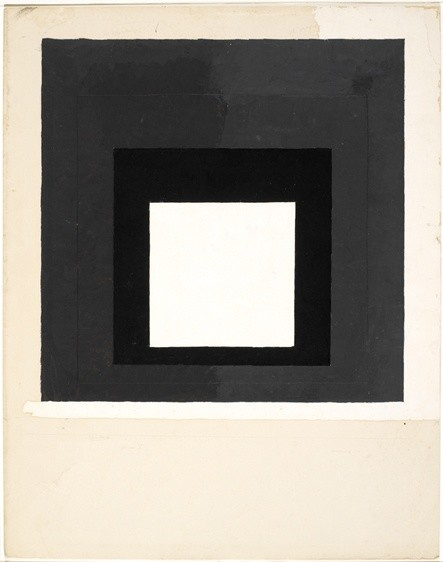 <strong>Josef Albers</strong>, <em>Colour study for Homage to the Square (JAAF 1976.2.197)</em>, c.1950