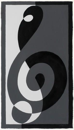 <strong>Josef Albers</strong>, <em>Treble Clef G n (JAAF 1976.2.216)</em>, 1932-35