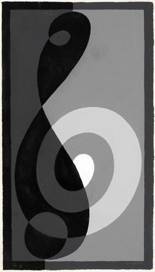 <strong>Josef Albers</strong>, <em>Treble Clef G g (JAAF 1976.2.217)</em>, 1932-35