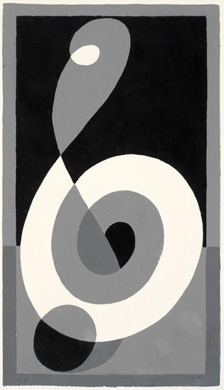 <strong>Josef Albers</strong>, <em>Treble Clef G b (JAAF 1976.2.206a)</em>, 1932-35
