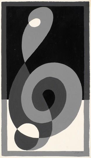 <strong>Josef Albers</strong>, <em>Treble Clef G c (JAAF 1976.2.206b)</em>, 1932-35