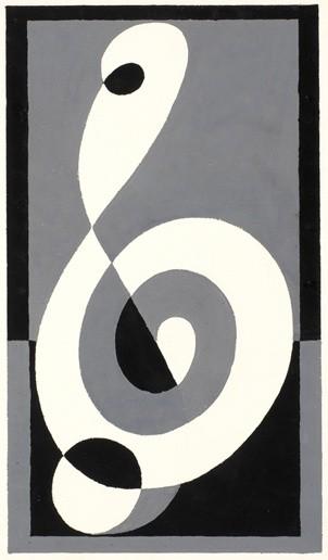 <strong>Josef Albers</strong>, <em>Treble Clef (JAAF 1976.2.215)</em>, c.1932-35