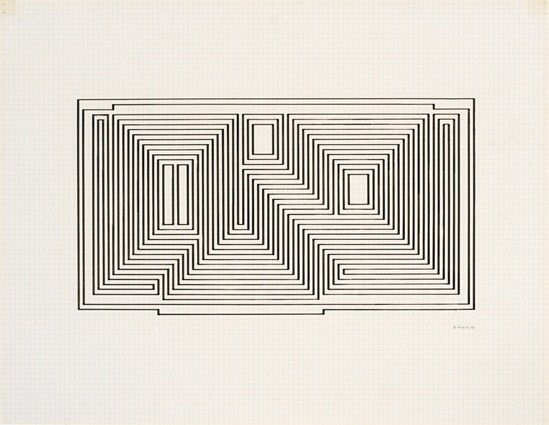 <p><strong>Josef Albers</strong>, <em>Study for Graphic Tectonic I (JAAF 1976.3.200)</em>, 1941</p>