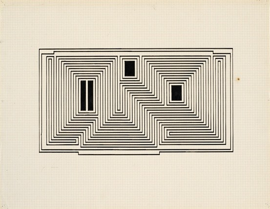 <strong>Josef Albers</strong>, <em>Study for Graphic Tectonic (JAAF 1976.3.214)</em>, c.1942