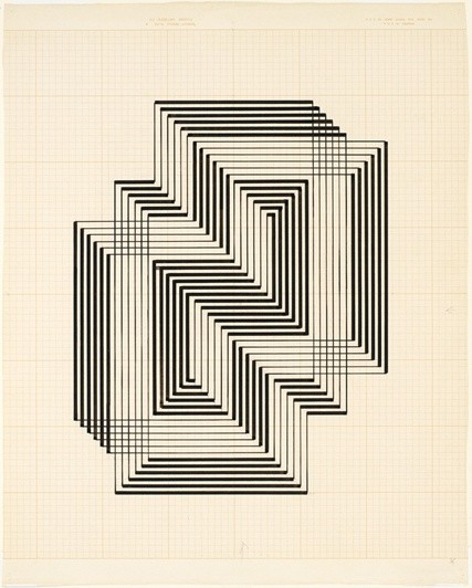 <strong>Josef Albers</strong>, <em>Study for Graphic Tectonic IV (JAAF 1976.3.216)</em>, c.1941-42