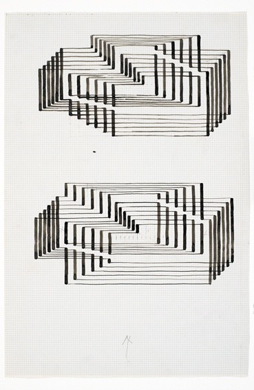 <strong>Josef Albers</strong>, <em>Two studies for Graphic Tectonic (Interim I) (JAAF 1976.3.232)</em>, c.1941-42
