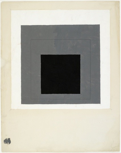 <strong>Josef Albers</strong>, <em>Colour study for Homage to the Square (JAAF 1976.2.196)</em>, c.1950