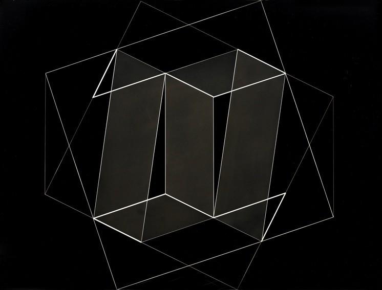 <strong>Josef Albers</strong>, <em>Structural Constellation: Transformation of a Scheme No.10 (JAAF 1976.8.1704)</em>, 1950-51