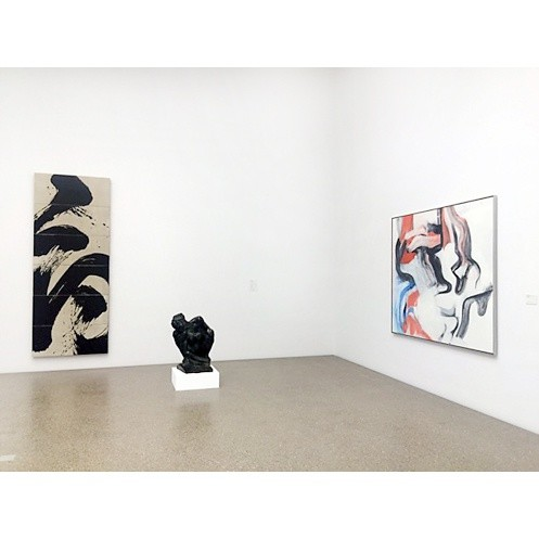 Exhibition view, Works by Fabienne Verdier, Auguste Rodin and Willem de Kooning, Photo: Museum Folkwang, 2016