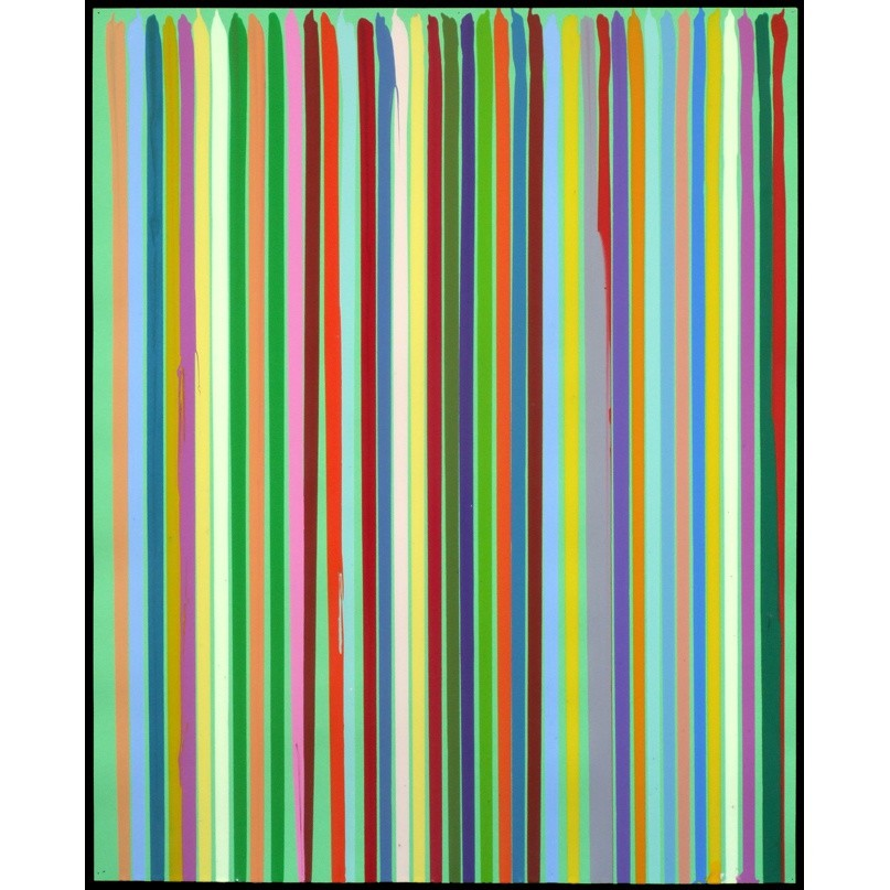 Ian Davenport, Light Green Study, 2010, water-based paints on paper, 24 7/8 x 20 1/8 in / 63.2 x 51 cm