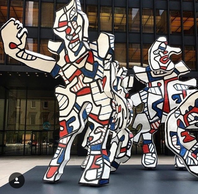 Jean Dubuffet at the Seagram Building. Image courtesy of Pace Gallery.