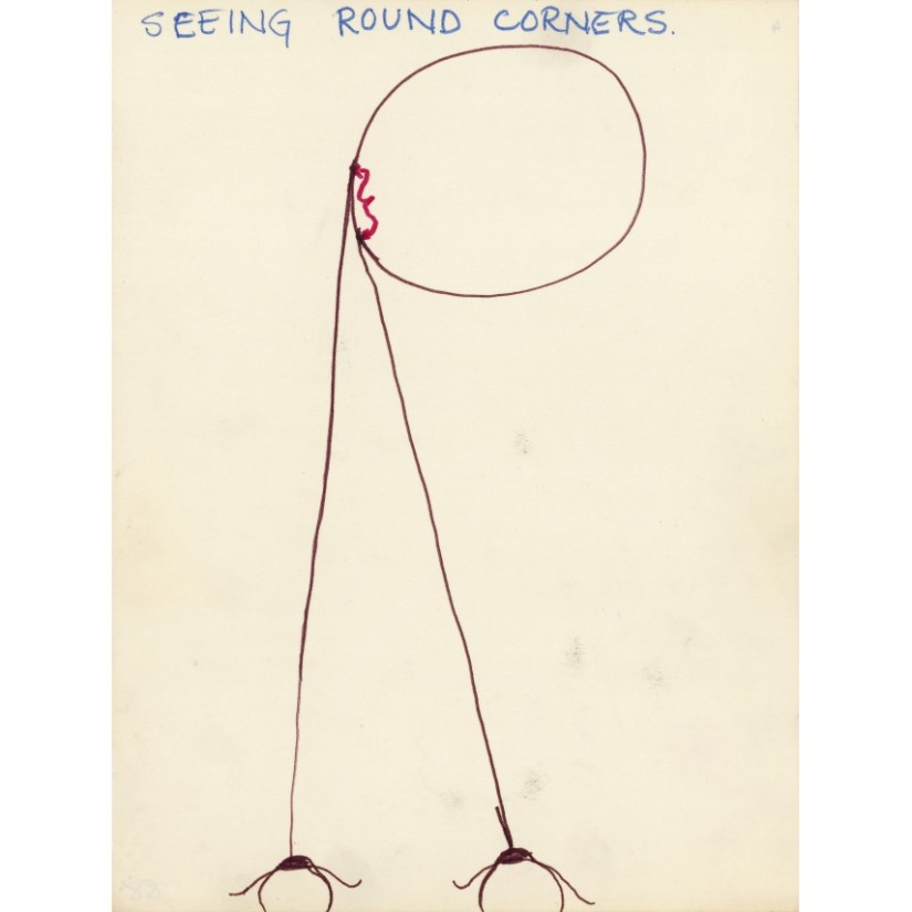 Barry Flanagan, Seeing round corners, 1967, felt pen & ink on paper. Private collection © The Estate of Barry Flanagan courtesy Bridgeman Art Library.