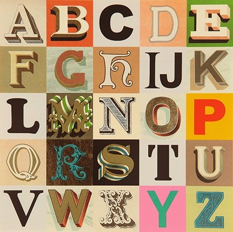 Appropriated Alphabets 7 © Peter Blake, courtesy CCA Galleries