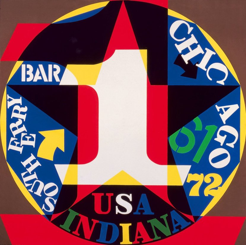 Robert Indiana, Decade:Autoportrait 1961, 1972-77, oil on canvas, 72 x 72 in. (182.9 x 182.9 cm). Collection of the McNay Art Museum, San Antonio, Texas; gift of Robert L. B. Tobin © 2013 Morgan Art Foundation, Artists Rights Society (ARS), New York