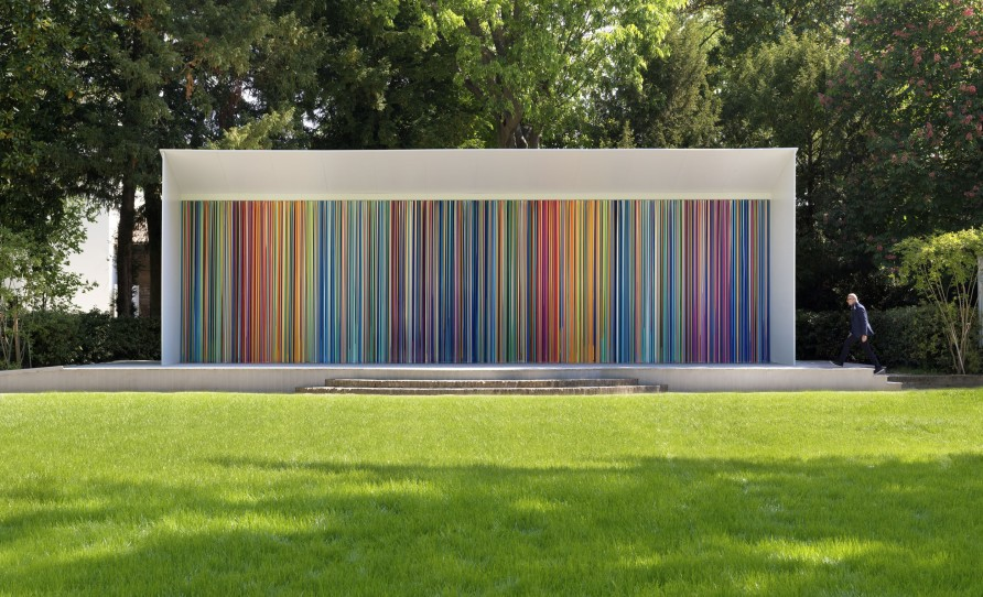 "Installation shot: ""Giardini Colourfall"", 2017, 3.8 x 14 m. Photo credit: Todd White Art Photography"
