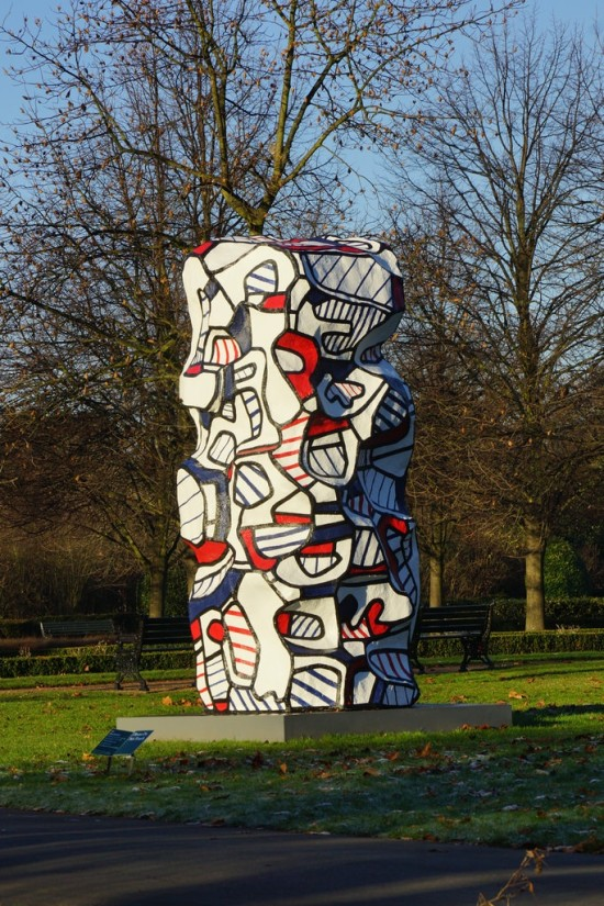 Jean Dubuffet, Tour aux récits (after maquette dated 19 July 1973), 2007, polyurethane paint on epoxy resin, 160 x 74 x 74 in / 406.4 x 188 x 188 cm