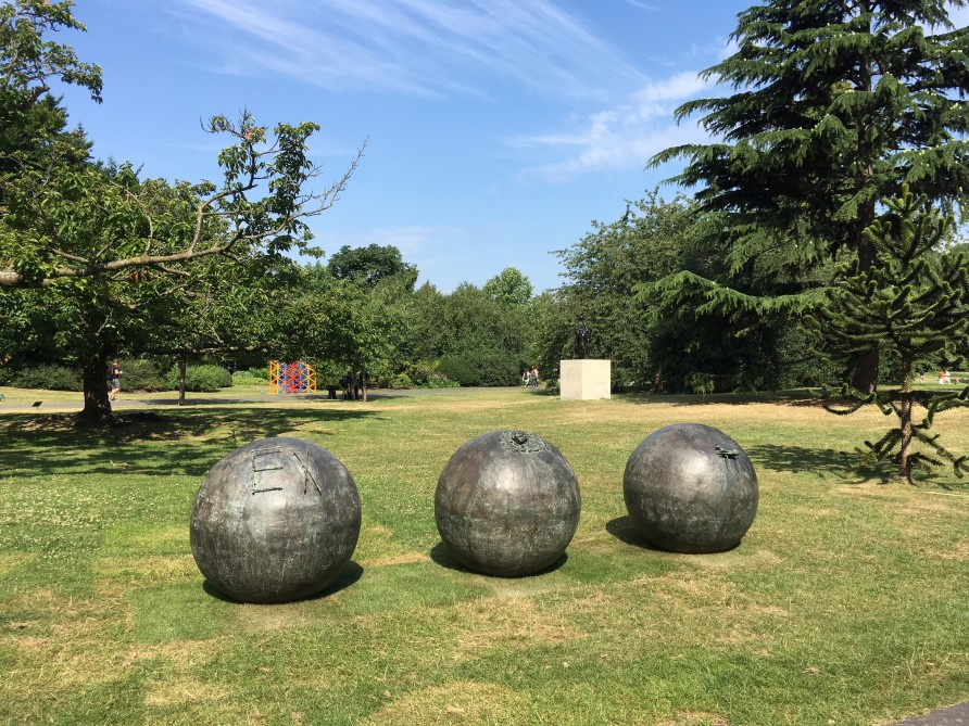 Mimmo Paladino, Untitled, 1989, in Regent's Park