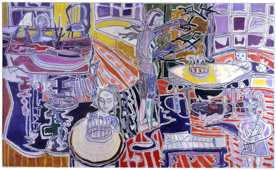 Patrick Heron, Christmas Eve : 1951, 1951, oil on canvas, 72 x 120 in / 182.9 x 304.8 cm