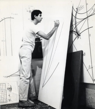 Bernar Venet in his studio in Nice in 1966. Courtesy Bernar Venet Archives, New York