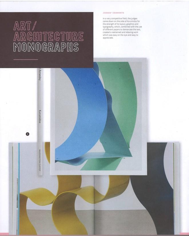 'Kurumidza' wins best Art / Architecture monograph