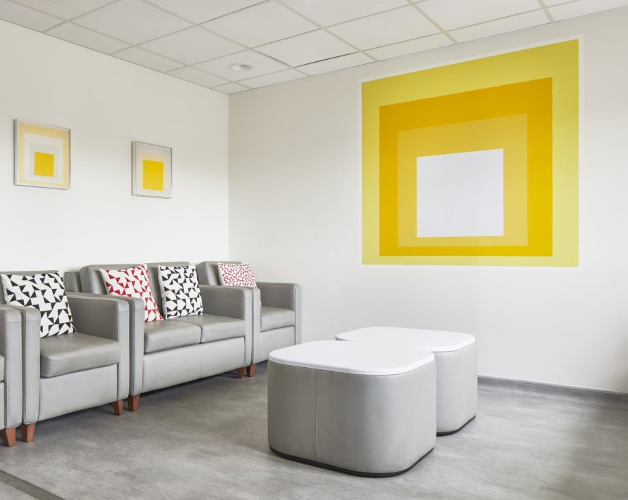 Albers' artworks brighten children's hospital ward