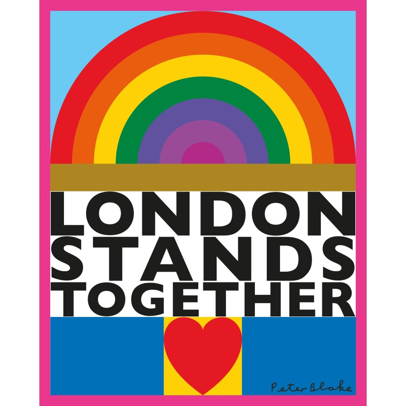 Peter Blake shares artistic message of hope for London