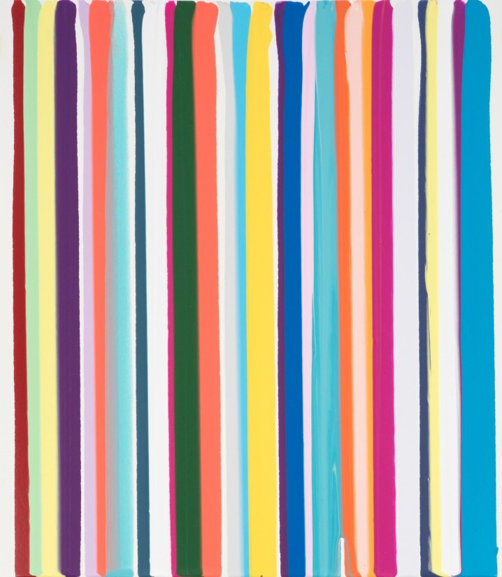 Ian Davenport, 2020. Limited edition acrylic on paper. 27 x 31 cm.