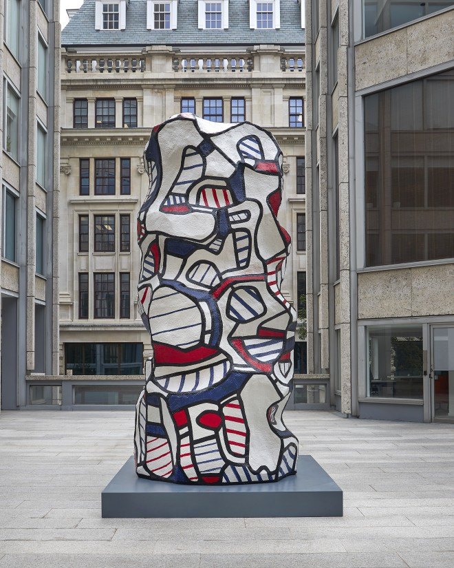 Monumental work by Jean Dubuffet installed at Smithson Plaza