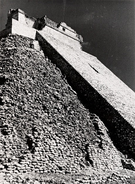 Albers' photograph of Pyramid of the Magician, in Uxmal, Mexico. Photograph: Josef Albers/The Josef and Anni Albers Foundation/Artists Rights Society/Dacs