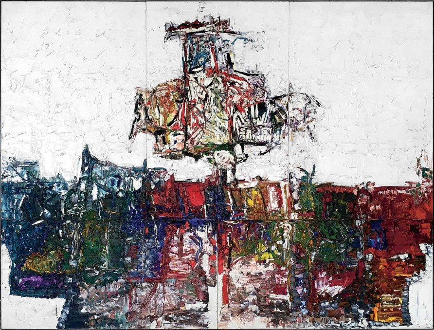 Carcajoux, 1971, Mixed media on lithographic essay, 120.5 x 160 cm © Estate of Jean Paul Riopelle / SOCAN (2020)