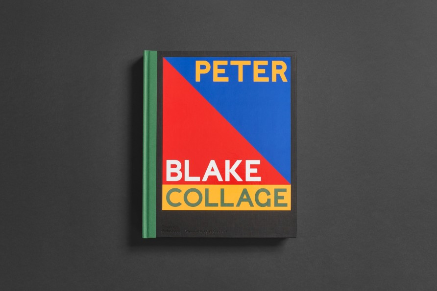 Peter Blake: Collage published by Waddington Custot in partnership with Thames & Hudson. Design by Praline. Image courtesy Praline.