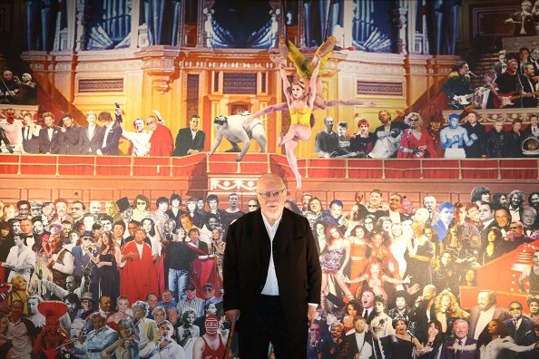 Sir Peter Blake in front of his mural