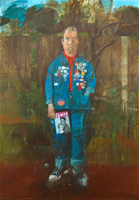 Peter Blake, Self-portrait with badges, 1961, Tate. Presented by the Moores Family Charitable Foundation to celebrate the John Moores Liverpool Exhibition 1979 © Peter Blake/DACS. Licensed by Viscopy, Sydney