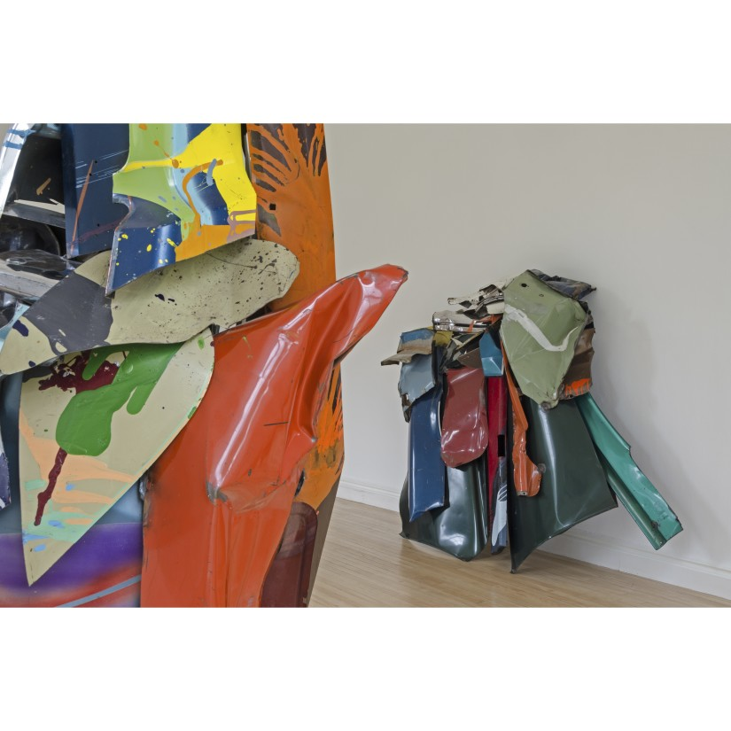John Chamberlain, installation view, Inverleith House, Royal Botanic Garden, Edinburgh. © 2015 Fairweather & Fairweather Ltd/Artists Rights Society (ARS), New York. Photo: Michael Wolchover. Courtesy Dia Art Foundation, New York.