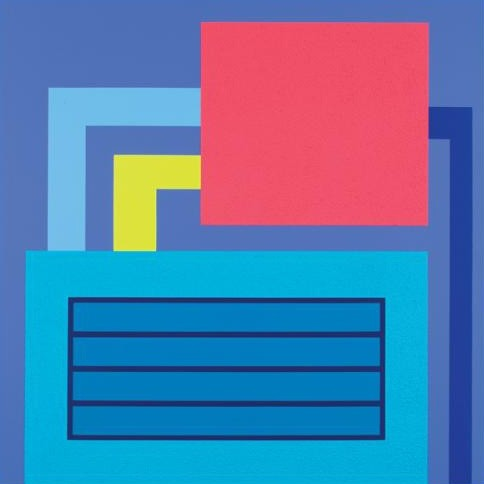 Peter Halley, Bluff, 2007, acrylic, fluorescent acrylic and Roll-a-Tex on canvas, from the collection of Nicholas Hunt