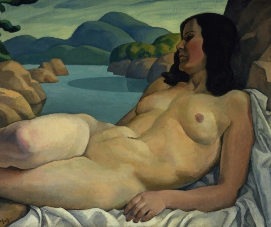 Fig. 8 Edwin Holgate, Nude in a Landscape, c. 1930, Oil on canvas, 73.1 x 92.3 cm, National Gallery of Canada, Accession No. 3702