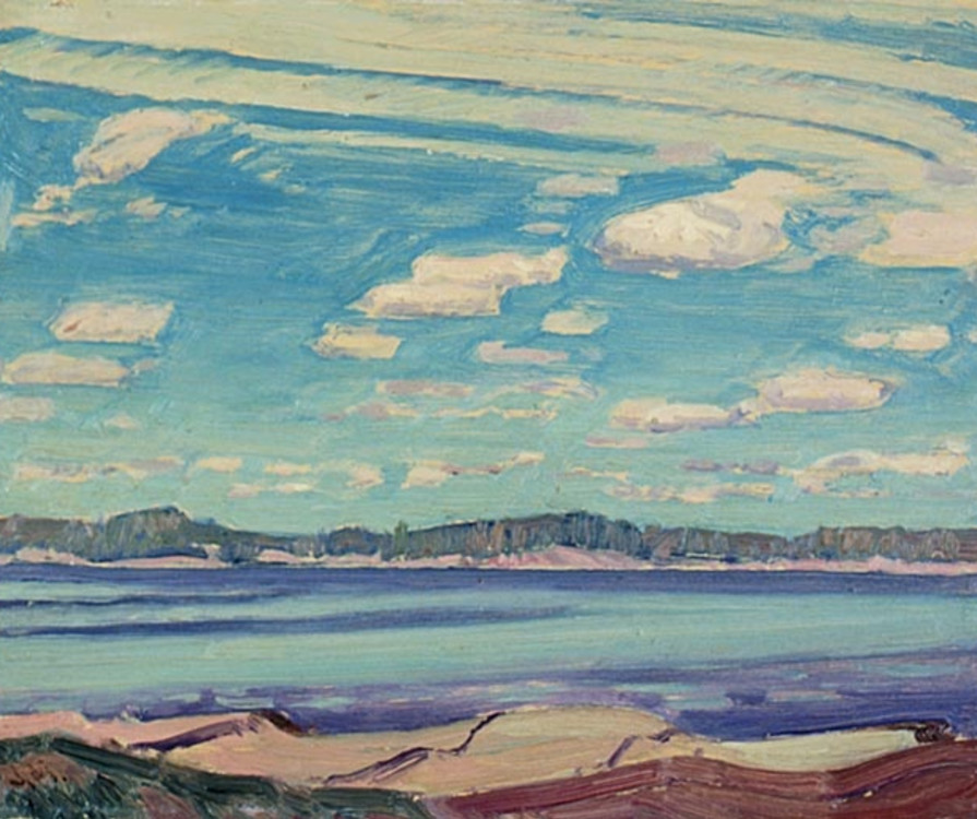 Fig. 4 J.E.H. MacDonald, Sturgeon Bay, near Pointe-au-Baril, 1931, National Gallery of Canada, Ottawa, Ontario, Accession No. 15497