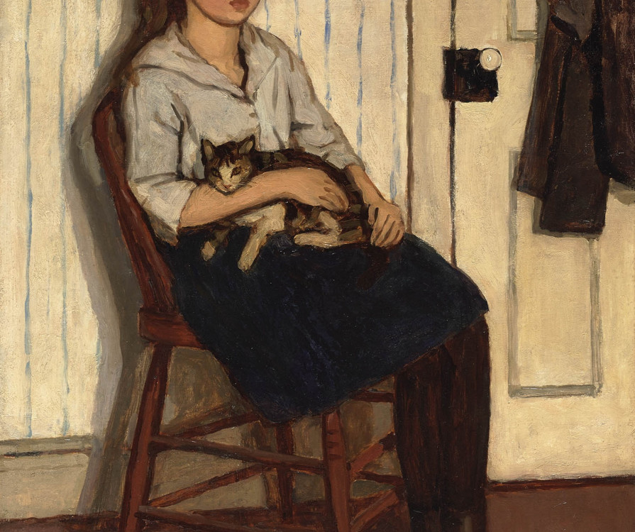 Girl and Cat, 1920 Previously sold by Alan Klinkhoff Gallery, purchased in 2014 by the National Gallery of Canada, 46231