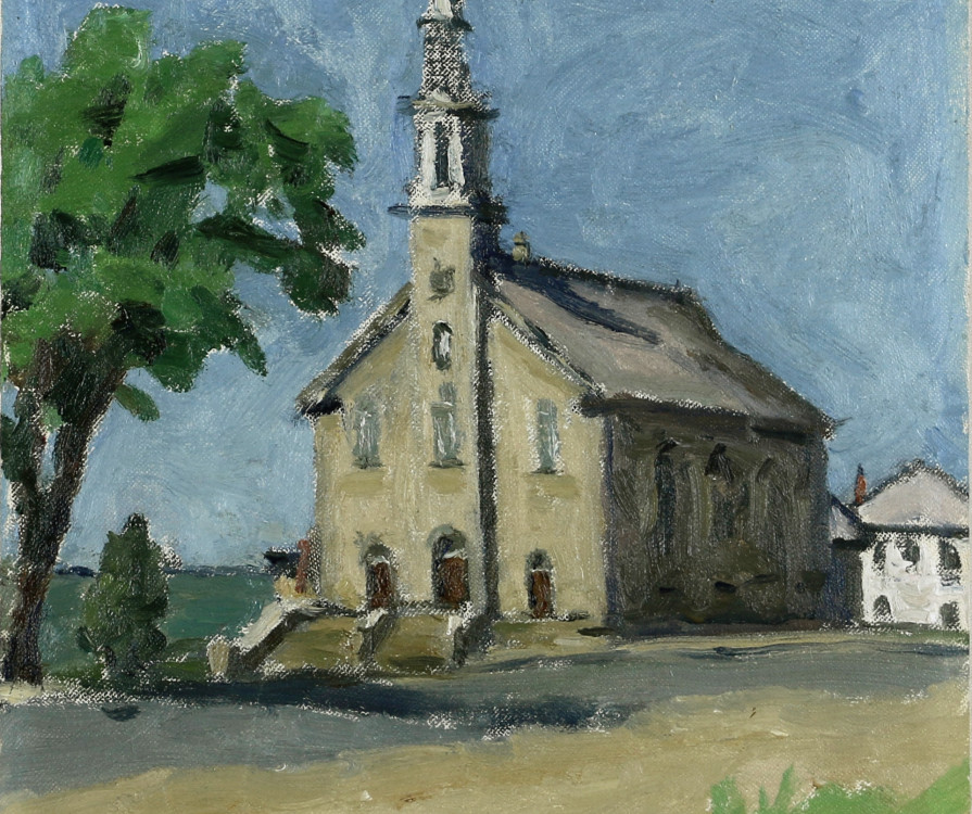 Emily Coonan (1885-1971) Church at Notre-Dame-du-Portage (Near Cacouna) Oil on canvas board, 14 x 11 in (35.6 x 27.9 cm) Read More Inquire