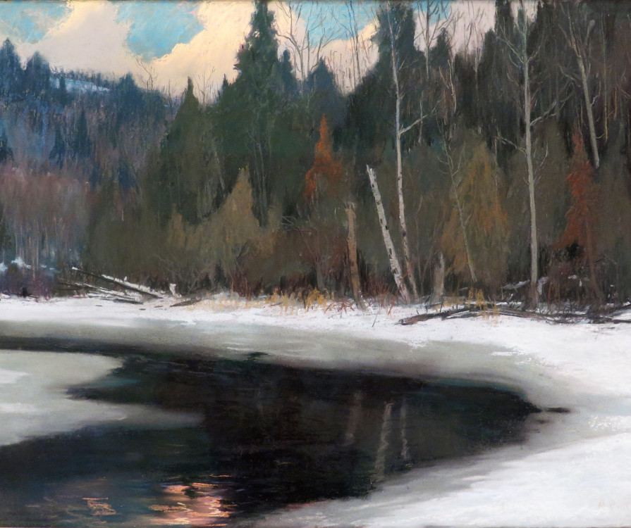 Maurice Cullen, R.C.A. (1866-1934) Twilight in the Laurentians