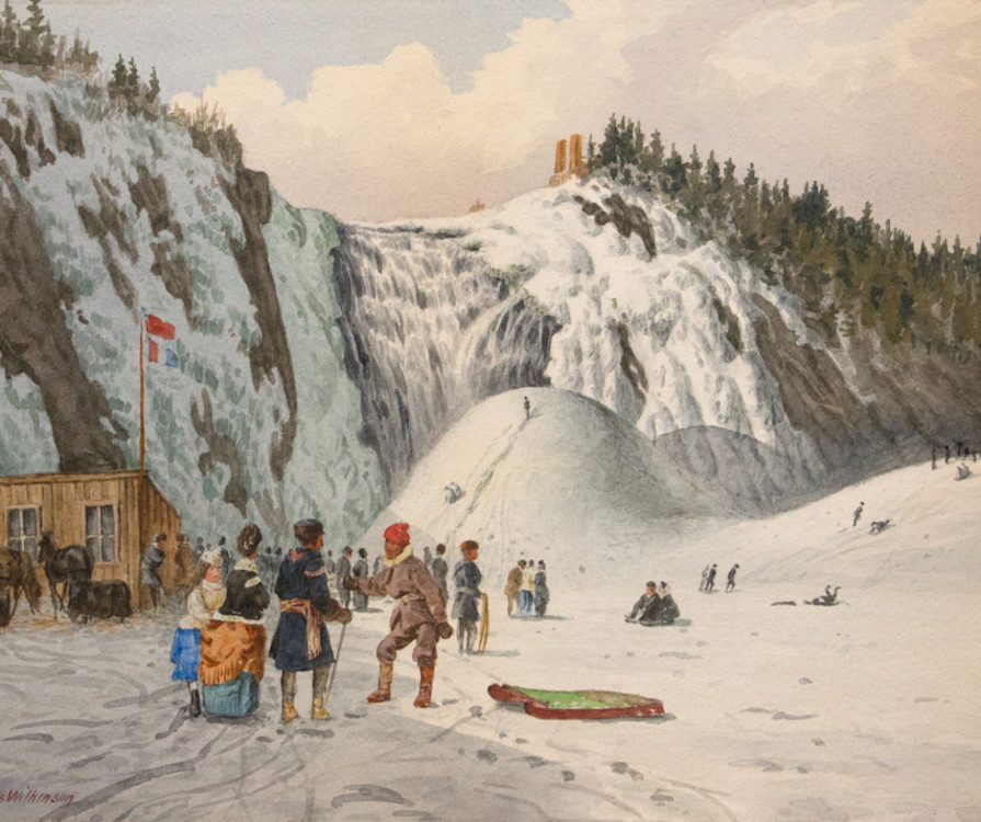 Ice Cone at Montmorency Falls 8 x 11